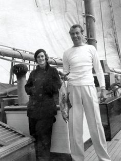 Rocky and Gary in Southampton, New York in 1934