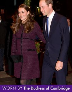 The Seraphine Marina Maternity Coat is an elegant choice for before, during & after pregnancy. Worn by The Duchess of Cambridge, Kate Middleton. Kate Middleton Outfits, Style Kate Middleton, Kate Middleton Prince William, Prince William And Catherine, William Kate, Princesa Charlotte, Princesa Real, Maternity Coat, Maternity Fashion