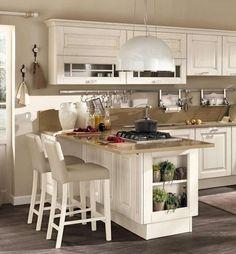 idee per arredare una cucina classica modello con top marrone
