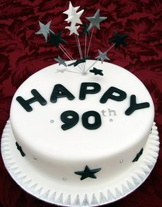 90th birthday cakes