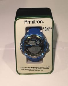 Armitron Sport Men's 40 8316BLU Fitness Watch New | eBay