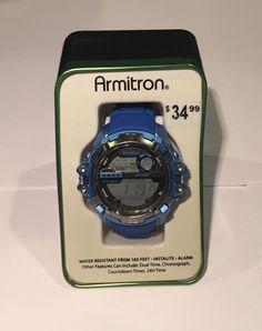 Armitron Sport Men's 40 8316BLU Fitness Watch New | eBay