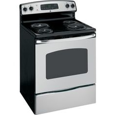 GE 30-in Freestanding 4-Element 5.3 cu ft Self-Cleaning Electric Range (Stainless Steel)