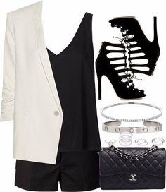 Ideas de outfits - combinamos colores el blanco con el negro...