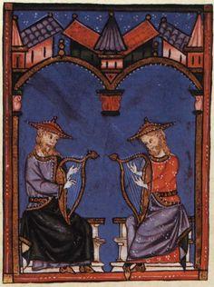 Spain-Alfonso X (1221-1285) Cantigas http://www.pbm.com/~lindahl/cantigas/images/cantiga_7.jpg