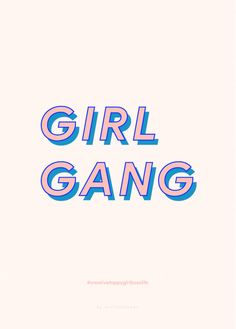 Girl Gang Bossgirl Print Motivational Print by AtelierKokoon. Get that Print for the office!!