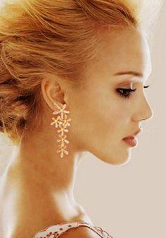 Gold Flower Shape Earrings