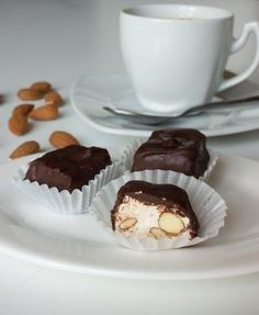 Nougat in chocolate #recipes #cooking #food #nougat #chocolate