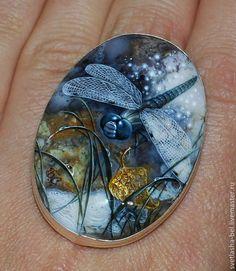 Раз - колечко, два - колечко... - лаковая миниатюра,роспись по камню,живопись маслом