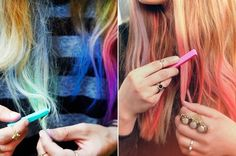 Para mulheres que sempre tiveram o som de colorir os cabelos sem tintura química, eis uma tendência estrangeira que está começando a fazer sucesso por aqui: o Hair Chalk. Saiba mais! - Veja mais em: http://www.vilamulher.com.br/cabelos/tratamentos/hair-chalk-e-uma-boa-colorir-os-fios-com-giz-m0615-703701.html?pinterest-destaque