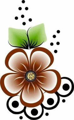 Beading Patterns, Flower Patterns, Flower Designs, Rock Flowers, Beadwork Designs, Floral Drawing, Flower Doodles, Arte Floral, Star Painting