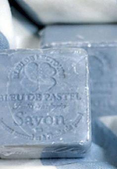 Blue handmade soap