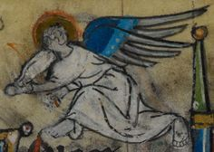 Detail from medieval manuscript, British Library Stowe MS 17 'The Maastricht Hours', f188r