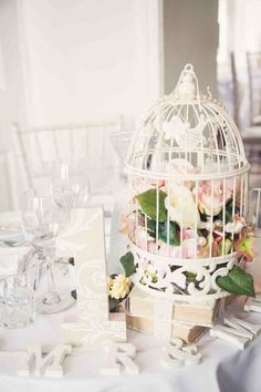 Sweetheart table, table for 2, wedding, shabby chic, birdcage, books, dusky pink, sage green