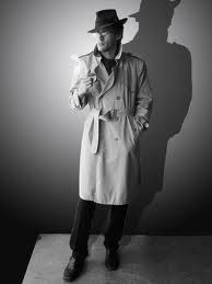 I like this image as it portrays the way typical film noir anti-heroes dress. This is similar as to how I want my anti-hero dress. I like the use of the trilby hat to create shadow over the face, and the smart clothes give an impression of authority. Detective Costume, Detective Outfit, Detective Party, Halloween Cosplay, Halloween Costumes, Halloween 2019, Aesthetic Women, Aesthetic Black, Aesthetic Fashion
