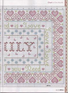 Family sampler part 2 free cross stitch pattern