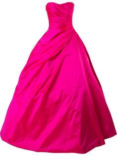 Shop Romona Keveza strapless ball gown.