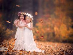 Sisters... - Pinned by Mak Khalaf Fine Art autumnchildchildportraitchildrenfallleavessiblingssisters by ammara_s