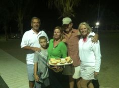 Summer party at beach club. Stephanie Suplee Dey and her family at our Resources beach night
