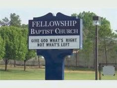 Another church sign funny