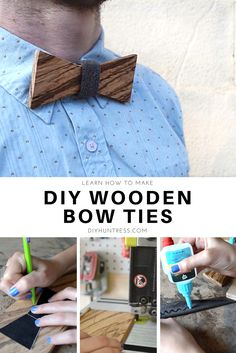 Learn how to #DIY Wooden Bow Ties! #YouTube Video & #Blog Post!