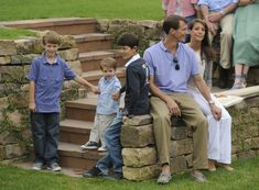 Princess Marie of Denmark, Prince Joachim of Denmark, her son Prince Frederik and the sons of  Prince Joachim, Prince Nikolai and Prince Felix pose during a photocall at Grasten castle on August 1, 2011 in Grasten, Denmark.