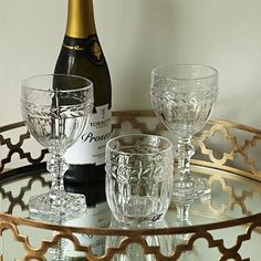 Decorative Glass Tumblers & Goblets from £7 #christmas #christmasglassware #christmastable