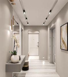 Ceiling Design Living Room, Home Room Design, Home Interior Design, Living Room Designs, Interior Decorating, Flur Design, Home Entrance Decor, Home Decor, Hallway Designs