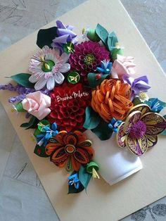 Beautiful Flower Arrangement - quilled by: Branka Miletec