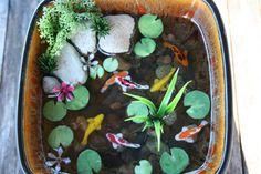 Miniature Koi Pond in Resin by rezinology on Etsy