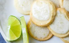 Key Lime Sparkle Cookies [vegan] With All-purpose Flour, Powdered Sugar, Corn Starch, Vegan Butter, Key Lime Juice, Lime Zest, Powdered Sugar, Lime Zest, Key Lime Juice, Sugar