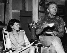 On the set of The Great Escape. Loving the mud at tea time. :)