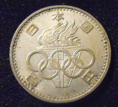 1964 Japan 100 Yen Olympics Silver Coin