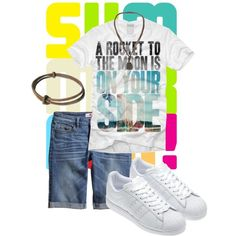 """Is it you?"" by kate-dep-dep on Polyvore #tomboy_style #adidas #summer"