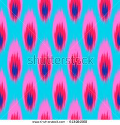 Ikat stylization Peacock Feather on a white background. Geometric abstract shapes . Traditional pattern on the fabric in Asian countries