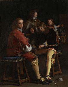 Michael Sweerts, The Draughts Players. 1652. Oli sobre tela, 48 x 38 cm. Amsterdam: Rijksmuseum.