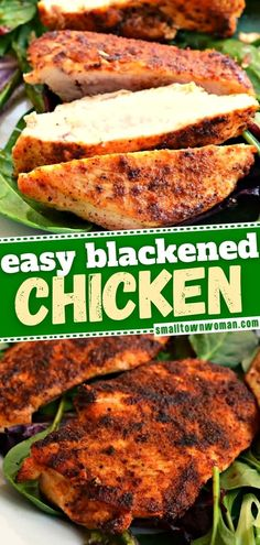 21 reviews · 15 minutes · Gluten free · Serves 4 · Even a novice chef can cook this healthy meal in under 20 minutes! The whole family is going to love this Cajun-style recipe for Easy Blackened Chicken that comes out tender, juicy, and flavorful… More Chicken Flavors, Easy Chicken Recipes, Meat Recipes, Dinner Recipes, Cooking Recipes, Healthy Recipes, Chicken Recipes For Dinner, Fettuccine Alfredo, Chicken Fettuccine