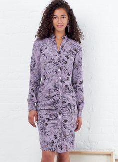 McCalls Ladies Easy Sewing Pattern 7120 Simple Dresses /& Belt McCalls-71...