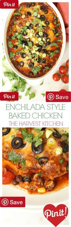 DIY Enchilada Style Baked Chicken - Ingredients Meat 4 Chicken breasts ...