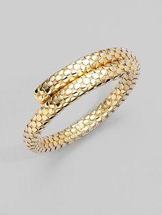 Love this bracelet <3 John Hardy - 18K Gold Single Coil Bracelet - Saks.com