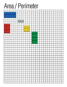 Use graph paper and LEGO bricks to find the area and perimeter of individual bricks, or create a larger shape with multiple bricks.