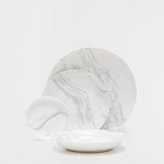 PORCELAIN MARBLE DINNERWARE - Dinnerware - Tableware | Zara Home Hungary