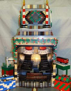 LEGO Fireplace at Christmastime | Flickr - Photo Sharing!