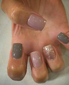 Simple Winter Short Nails Art Design Ideas 2018 2019 66 Great ready to book your next manicure, beca Cute Nails, Pretty Nails, My Nails, Cute Fall Nails, Vegas Nails, Fall Nail Colors, Nail Polish Colors, Winter Colors, Pretty Nail Colors