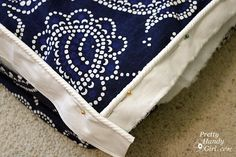 how to make an outdoor bench cushion with a shower curtain