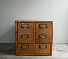 Small 6-drawer card catalog