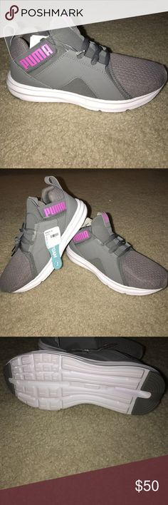 Puma Enzo - Brand new sample- size 7 Puma Enzo - Brand new sample- size 7 - please see pictures - color is Grey/Pink Puma Shoes Athletic Shoes