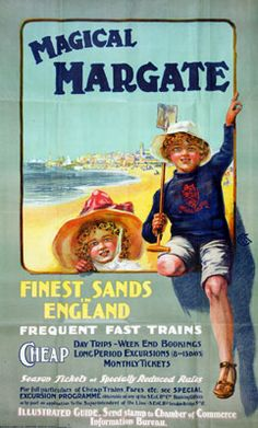 Magical Margate The National Archives . Vintage travel beach poster #essenzadiriviera.com