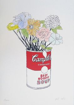 'Flowers' - Bob Gill Limited edition Screen print, printed by artist, great for a very special gift wedding or other .