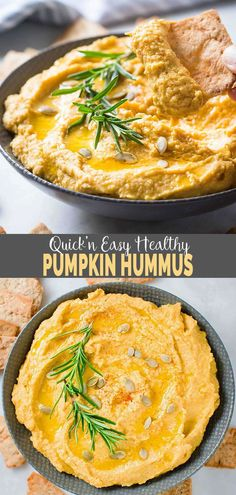 Fall-Ready Roasted Garlic Easy Pumpkin Hummus This Pumpkin Hummus is quick and very easy to prepare. It is flavored with roasted garlic and tahini. Perfect healthy appetizer recipe for fall party nights or family gatherings. Pumpkin Hummus, Roast Pumpkin, Healthy Pumpkin, Pumpkin Pumpkin, Vegan Pumpkin, Pumpkin Puree, Healthy Hummus Recipe, Healthy Recipes, Healthy Dips